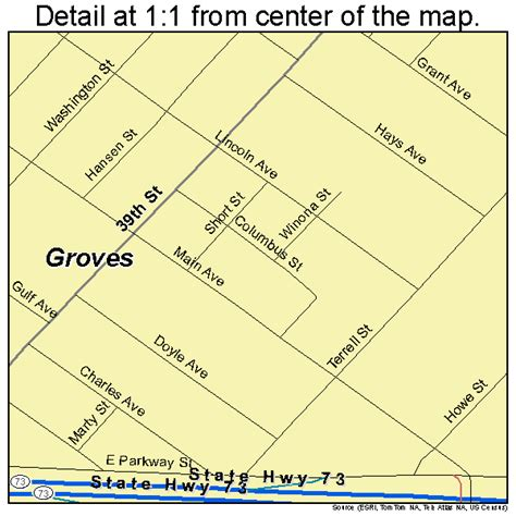 groves texas map groves texas map 4831328