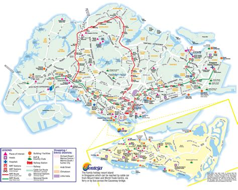 tourist map of about singapore city mrt tourism map and holidays detail