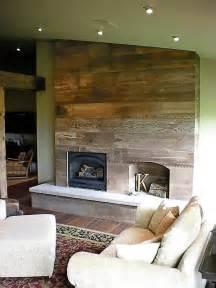 barnwood wall with fireplace maybe could cover up an