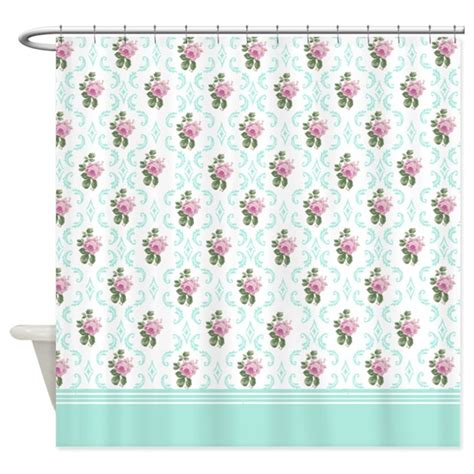 pink rose shower curtain pink roses floral pattern shower curtain by inspirationzstore