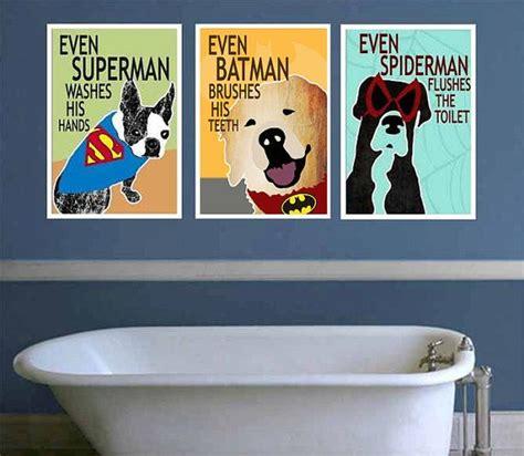 dog bathroom decor printable superhero bathroom decor kids superhero bathroom