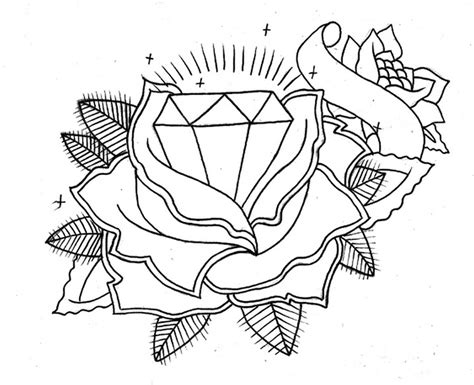 rose with diamond tattoo meaning drawing at getdrawings free for