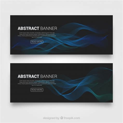 design free online banner abstract banners design vector free download
