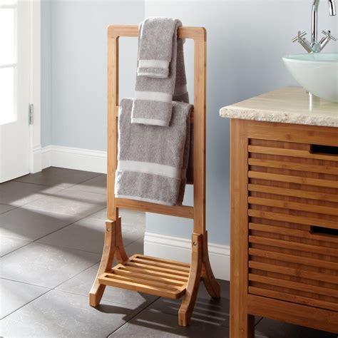 Bathroom Racks by Aldona Bamboo Towel Rack New Bathroom Accessories