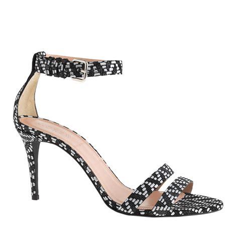 black high heel ankle sandals j crew ankle high heel sandals in black lyst