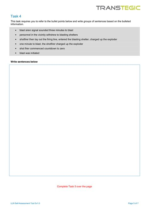 lln assessment template course evaluation form in word and pdf formats page 5 of 7