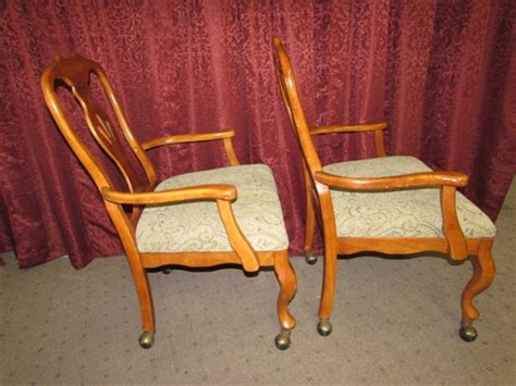 Rolling Dining Room Chairs by Lot Detail Another Pair Of Rolling Dining Room Chairs