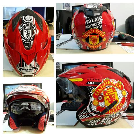 Helm Bola Club Manchester United jual helm motif club bola www dizlees