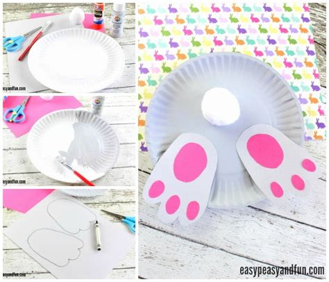 Paper Plate Bunny Craft - bunny paper plate craft easy peasy and