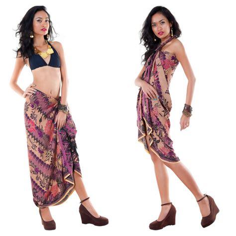 Batik Parang Purple sarong with traditional motif purple parang rusak