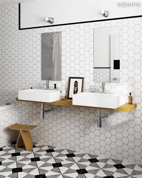 White Hexagon Tile Bathroom by White Hexagonal Tiles
