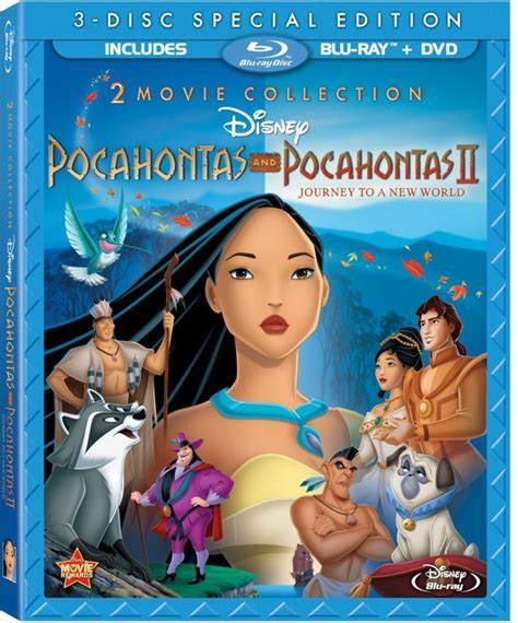 Pocahontas Two Movie Collection on Blu ray 8 21 12   The
