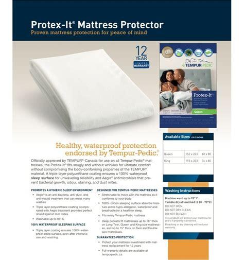 Tempurpedic Waterproof Mattress Cover by Tempurpedic Mattress Protector Click To Enlarge Mattress