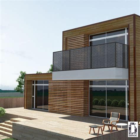 Supérieur Panneaux De Separation Interieur #7: 529b356177565_balcon-maison-ecologique-parement-facade-bois-garde-corps-metal-perforation-decorative-design-moderne.jpg