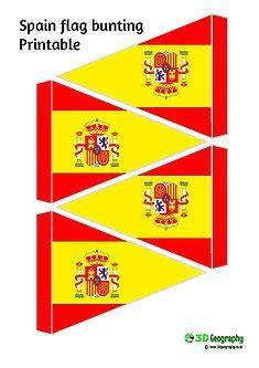 printable spanish flag bunting printable flag bunting