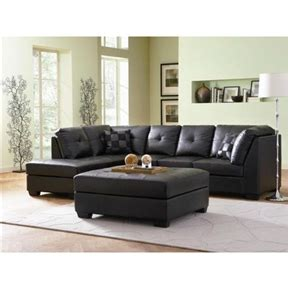 Black Sectional Sofa With Chaise Black Faux Leather Sectional Sofa With Left Side Chaise Fastfurnishings