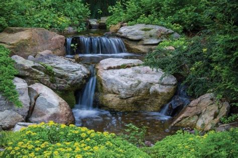 small pondless waterfall   stream kit garden