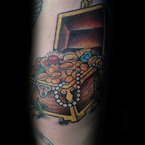 tattoo treasure chest 40 treasure chest tattoo designs for men valuable ink ideas