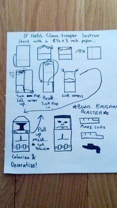 Origami Clone Trooper - easy kirigami clone trooper origami yoda