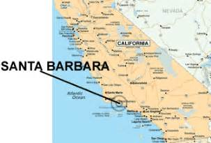santa barbara on map of california santa barbara california map