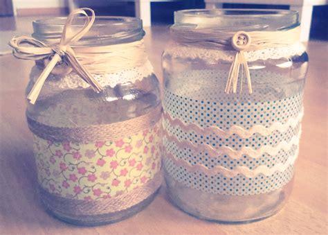 decorar tarros de cristal con puntillas tarro de cristal de madre a hija