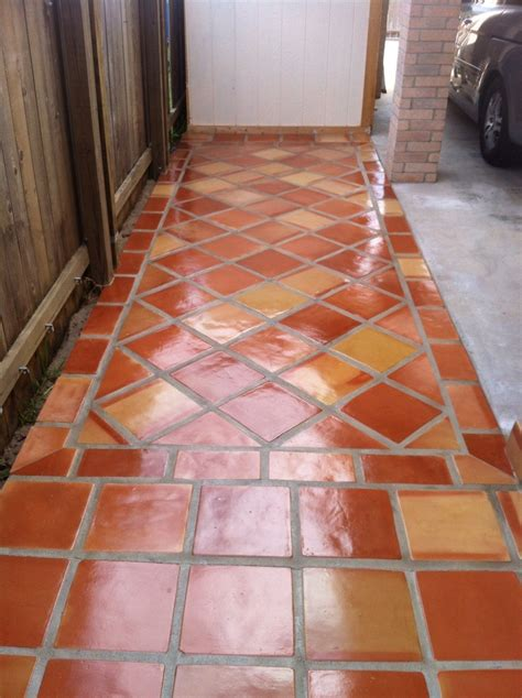 spanish for floor rustic terra cotta tile flooring with a high gloss finish