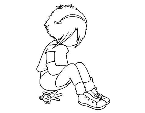 imagenes emos para dibujar dibujo de chica emo para colorear dibujos net