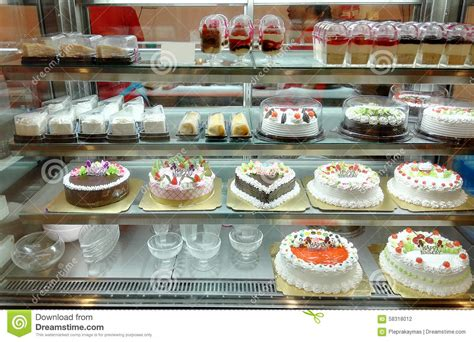 werkstatt torte cake shop with a variety of cakes stock photo image