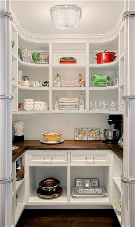 Butlers Pantry Size by Kitchen Pantry W Curved Shelves Traditional Kitchen