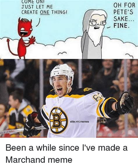 Nhl Memes - come oni just let me create one thingi elite nhlmemes oh