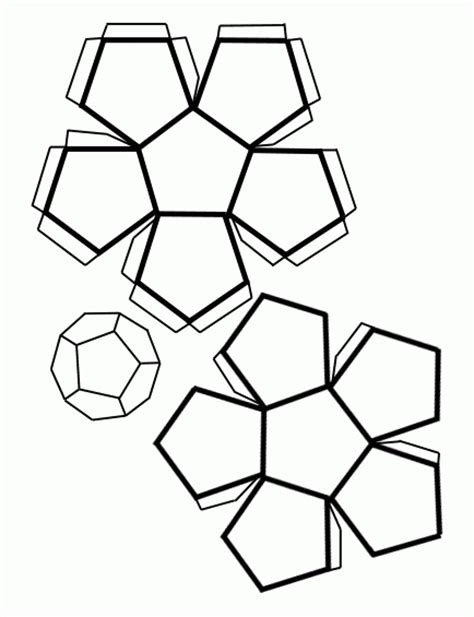 figuras geometricas recortables para armar recortable de un dodecaedro