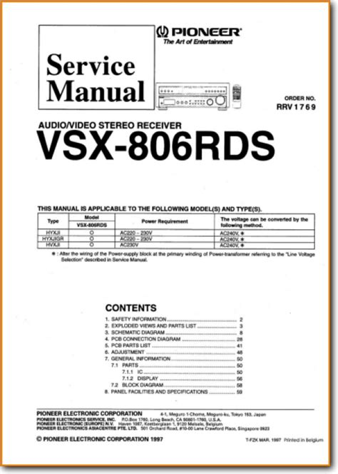 Pioneer Vsx 806 Rds Solid State Amp Receiver On Demand