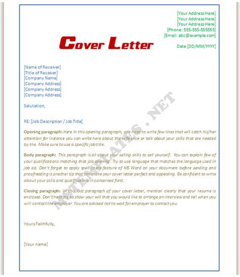 cover letter template word  shatterlioninfo