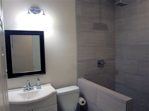 finished bathroom designs how to finish a basement bathroom before and after pictures