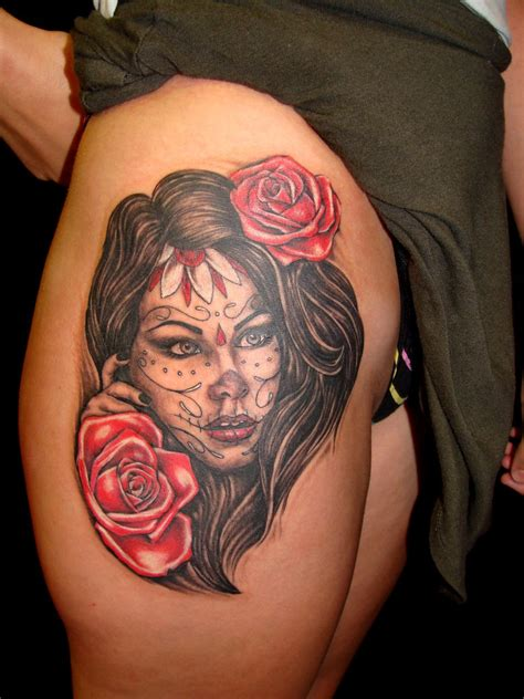 day of the dead woman tattoo designs 1000 images about cover me in ink on day of