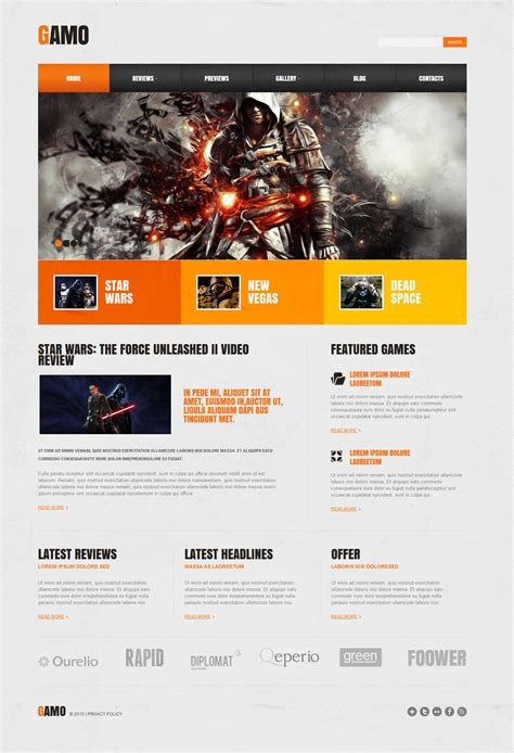 bootstrap templates for games gaming templates on behance