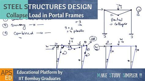 portal frame design youtube failure mechanism of portal frame design of steel