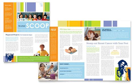 newsletter design template learning center elementary school newsletter template design