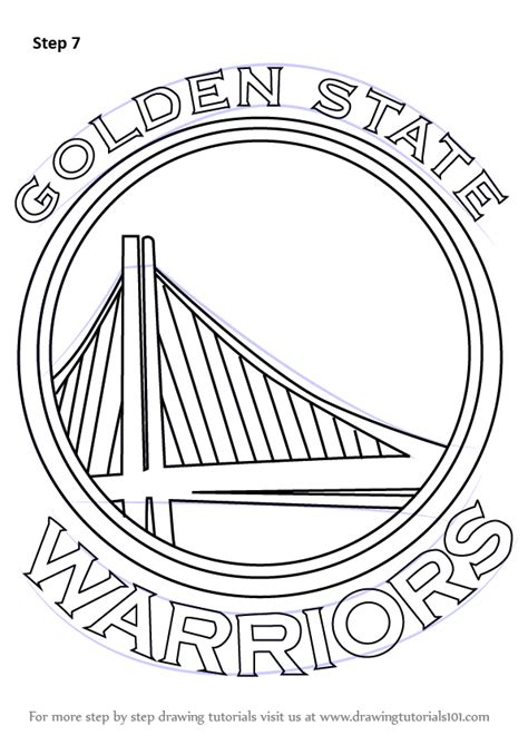 coloring pages golden state warriors learn how to draw golden state warriors logo nba step by