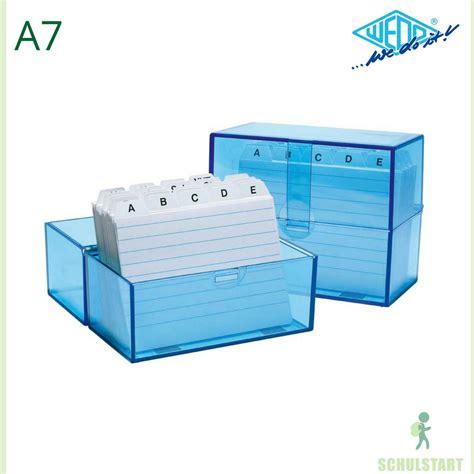 karteikarten kasten karteikasten a7 blau mit 100 karteikarten gef 252 llt