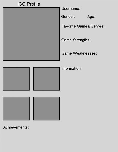 player template player profile template by the igc images frompo