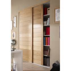 porte de placard coulissante ch 234 ne naturel spaceo