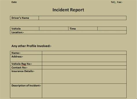 get incident report form excel template microsoft office