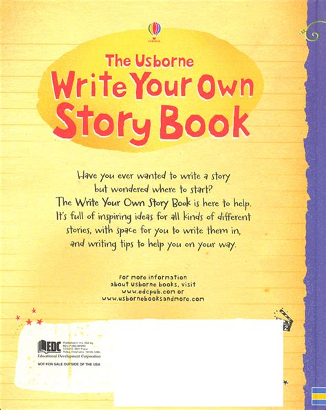 usborne write your own story book 056134 details
