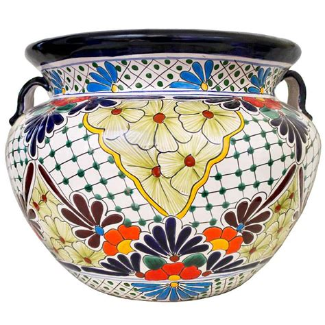 Mexican Planters Large by Talavera Planters Collection Talavera Planter Tp235