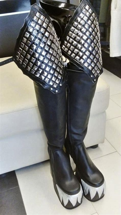 gene simmons inspired boots from the alive by