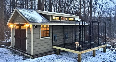 dog house with kennel custom dog kennel lighted a z o r e pinterest for dogs backyards and dog houses