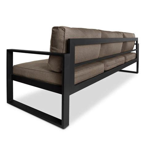 black outdoor sofa real flame baltic outdoor sofa in black and gray 9621 bk