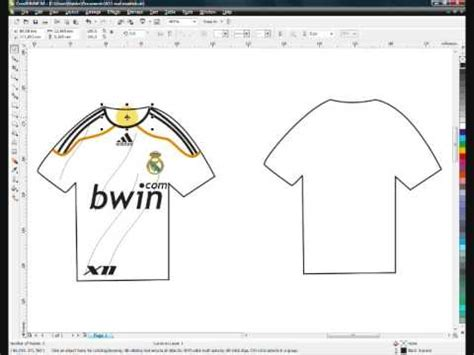 tutorial corel draw x4 pdf gratis corel draw x4 how to do a sport t shirt real madrid prt 1