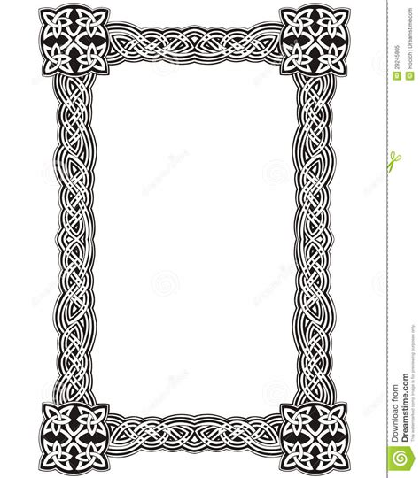 Simple A Frame House Plans by Celtic Decorative Knot Frame Royalty Free Stock Photo
